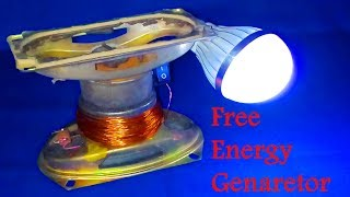 Free Energy Electricity Generator Using Magnet and Copper