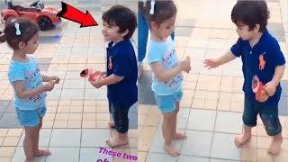 Taimur Ali Khan CUTE Video Playing With Friend