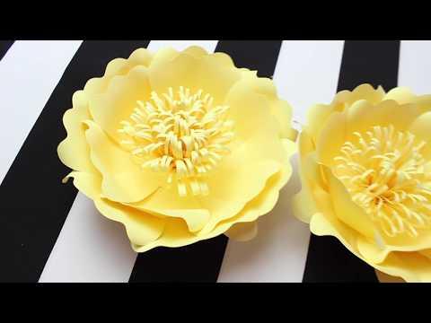 DIY Paper Flower Backdrop | Spring Colors | Template #11