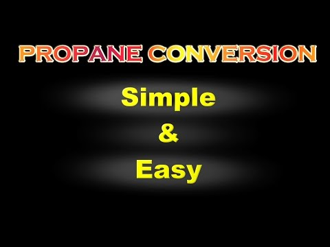 How to Convert a Gasoline Generator to run on Propane.  Easy & Simple!