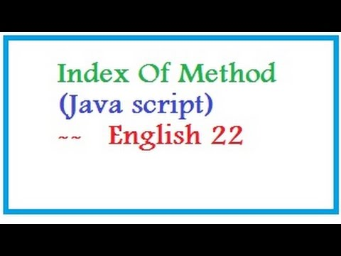 Index Of Method in Java script  --   English 22--vlr training