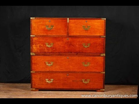 Antique Military Campaign Chest Drawers