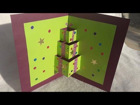Handmade pop up card | Handmade pop up card for Christmas