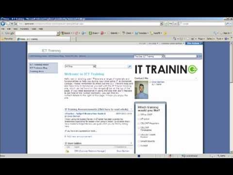 The ICT Training Site