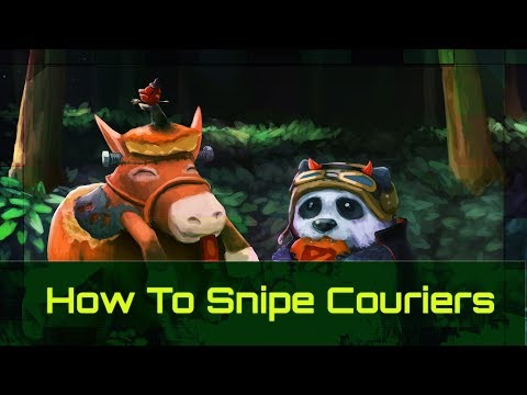 How To Snipe Couriers Like Pros  | Dota 2 Guide