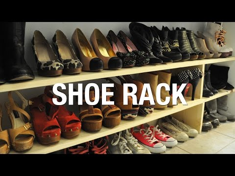 DIY Wooden Shoe Rack | Superholly