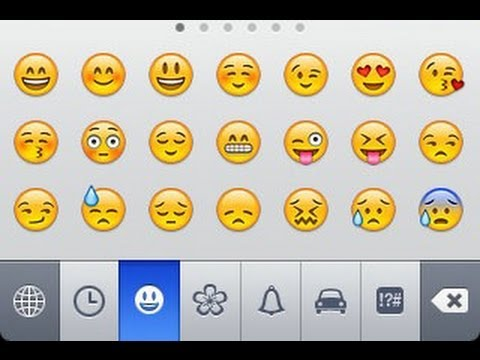Enable Emoji keyboard on the iPhone