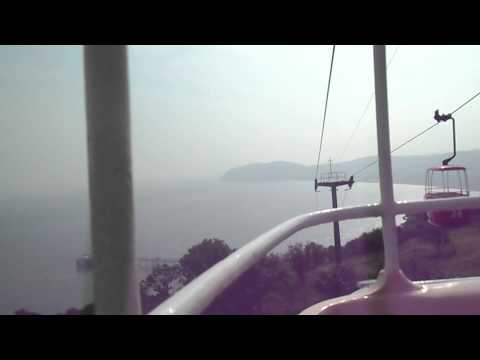 Onboard Llandudno Cable cars from the bottom to the summit of the great orme 11/08/12