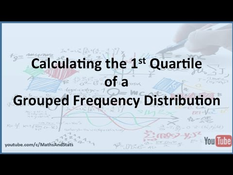 1st Quartile of a Grouped Frequency Distributions