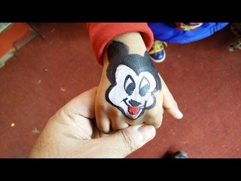 How to make temporary paint tattoo for kids | DIY Paint Tattoo | Mickey Mouse Tattoo by Sparsh Hacks