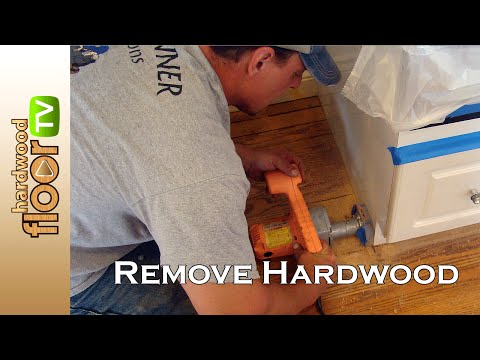 Remove Hardwood Floors Under Cabinets & Baseboards
