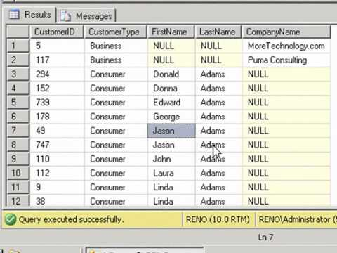 SQL 2008 Finding Duplicates Records Lab 5.1