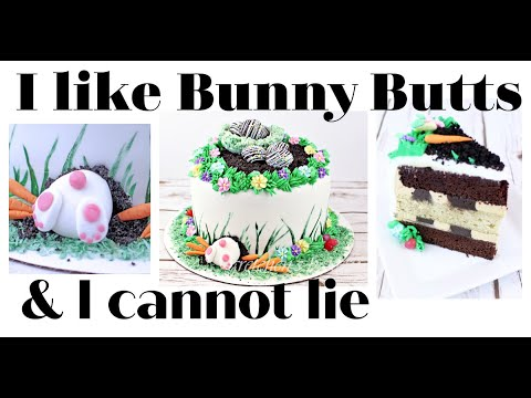Bunny Butt Cake for Easter || Gretchen's Vegan Bakery