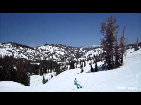 Snowboarding at Squaw Valley Ski Resort in Lake Tahoe, California [HD]