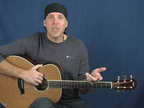 How to play acoustic guitar songs classic rock style with new rhythm patterns lesson super easy!