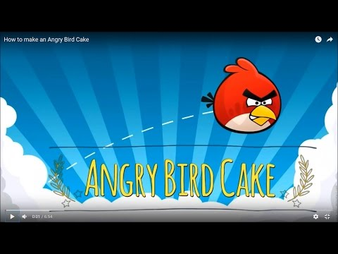 How to make an Angry Bird Cake - Decoration / Tutorial