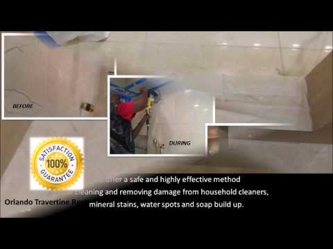 Cleaning Travertine Tile Showers Osteen FL (407) 279-3739