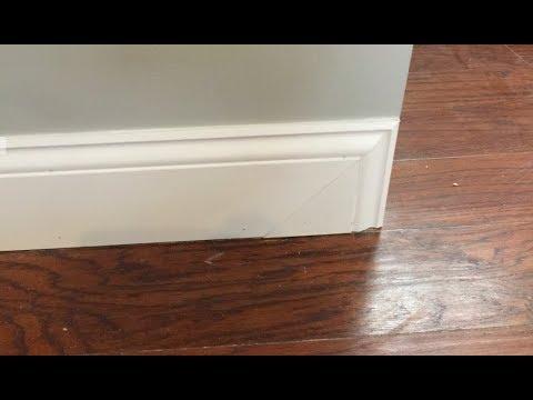 How To Cut A Baseboard Return