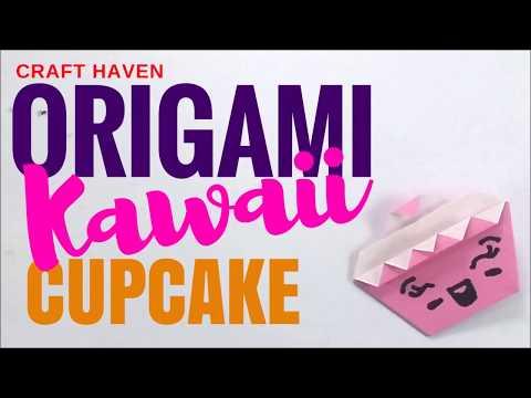 How To Make Kawaii Origami Cupcake ♥︎ Cute and Easy Paper Cupcake for the Ultimate Beginner ♥︎ DIY