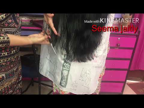 V Shape Hair Cut for long hair/How to cut long V shape 💇♀️ full tutorial seema jaitly