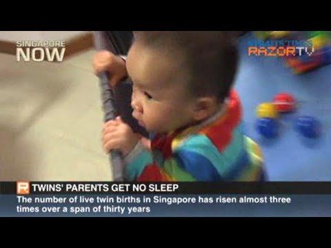 Twins' parents get no sleep (Multiple births Part 3)