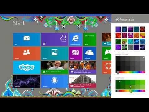 Change Personalize Windows 8 Background Themes and Colors
