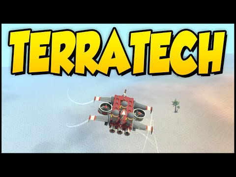 Terra Tech ➤ Building a Plane In The Salt Flats & Updating The Mining Vehicle [TerraTech Gameplay]