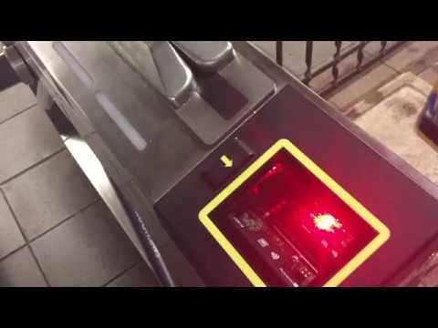New York Subway-Upgraded Turnstile at Wall St