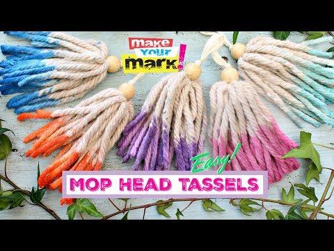 Mop Head Dip-Dyed Tassels