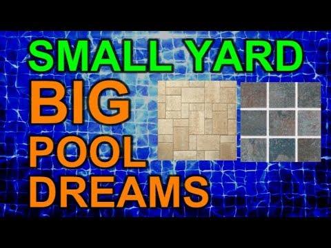Pool Tiles and Deck Pavers Ep 9 Small Yard Big Pool Dreams