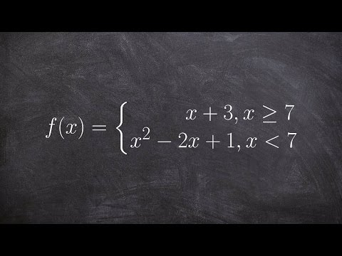 Calculus - Learn how to evaluate the limit of a piecewise function