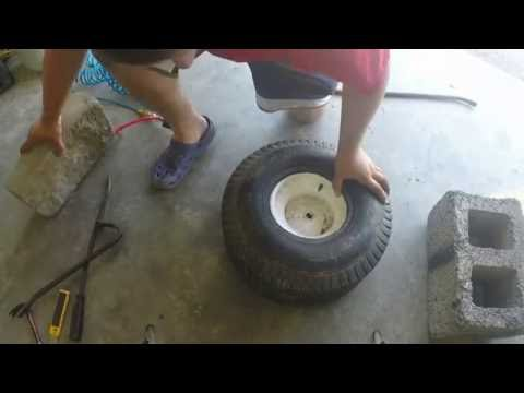 Replacing A Lawn Tractor Inner Tube With Hand Tools