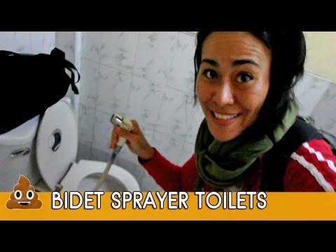 HOW TO USE BIDET SPRAYER TOILETS ( aka BUM GUNS IN THAILAND !!)