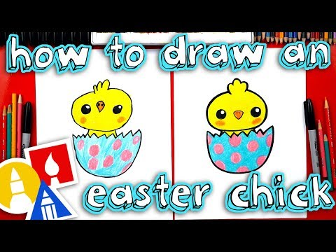 How To Draw An Easter Chick 🐣