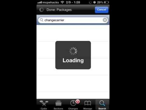 How to change carrier on iOS 6.0-6.1