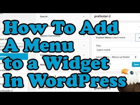 How To Add a Menu to a Wordpress Widget