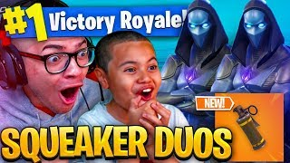 *NEW* STINK BOMB COMING TO FORTNITE BATTLE ROYALE! NEW SKIN IS WILD! 9 YEAR OLD PLAYS DUOS WITH ZURG
