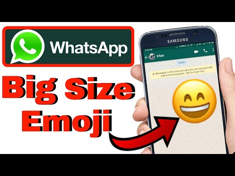 How to Get NEW Design Emojis on your WhatsApp | Whatsapp Big Emoji | Big Size Emoji | by Itech