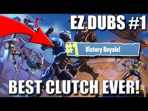 BEST CLUTCH EVER!!! | Fortnite Battle Royale | EZ DUBZ #1