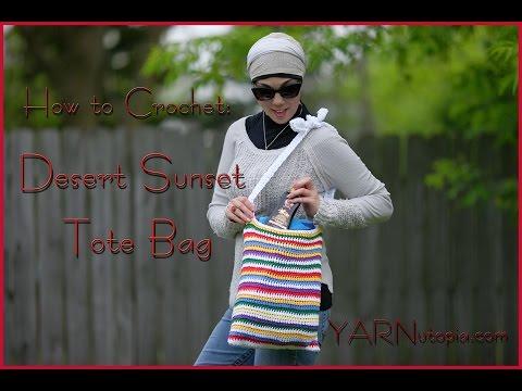 How to Crochet a Desert Sunset Tote Bag