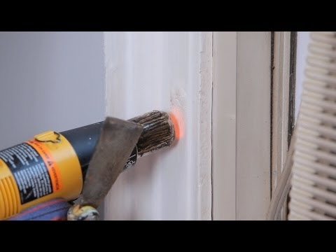 How to Strip Paint Using a Heat Gun | House Painting
