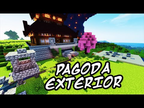 Minecraft Tutorials - Minecraft Tutorial #27 - How to Build the Japanese Pagoda Exterior  (HD)