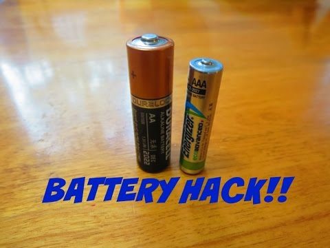 Battery Hack - Battery Tip for AA & AAA Batteries