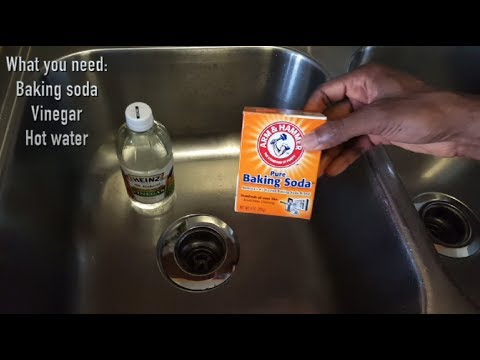 How To Unclog Your Drain (Sink) With Baking Soda And Vinegar. It Works!