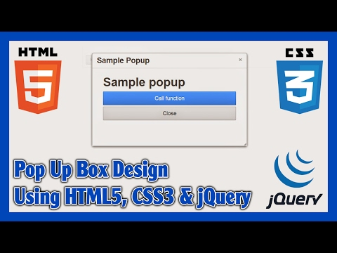 How to Create Custom Pop Up Box Using HTML5, CSS3 & jQuery   jQuery Animated Popup Box Tutorial