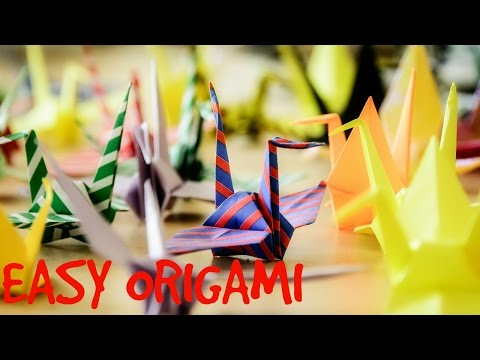 Easy Origami Tutorial: How to Make an Origami Crane ... Step by Step Animated Instructions
