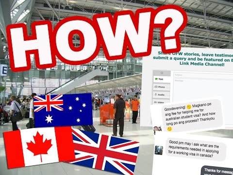 How to apply to Canada, UK and Australia from Philippines? QUERIES ANSWERED!
