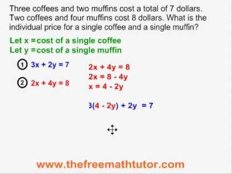 Word Problems With 2 Unknowns - Example 1