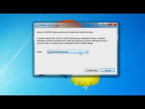 How to Create a Windows 7 Repair Disc
