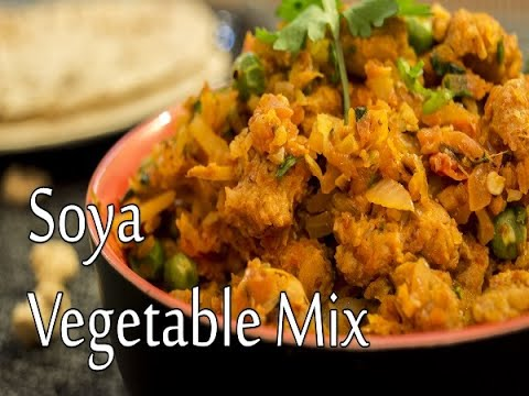 How To Prepare Soya Vegetable Mix | Vegetable Mix Soya Sabzi Recipe | Boldsky